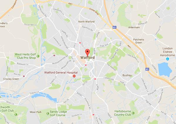 Map of Watford - Watford Mac Repair